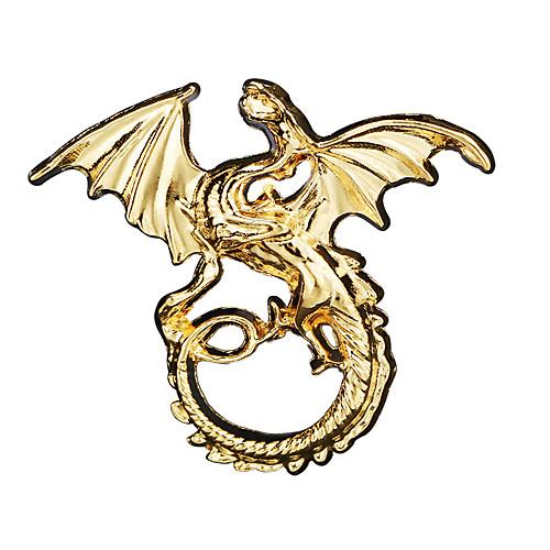 Men's Cubic Zirconia Brooches Retro Stylish Dinosaur Dragon Creative Statement Punk Ancient Rome Rhinestone Brooch Jewelry Bronze Gold Silver For Halloween Masquerade