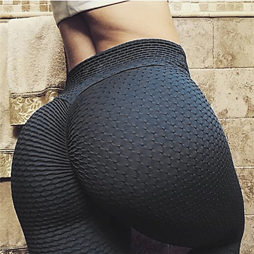 Women's Tiktok Leggings High Waist Scrunch Butt Ruched Butt Lifting Yoga Pants Tummy Control Butt Lift White Black Yellow Spandex Fitness Gym Workout Running Sports Activewear Stretchy Skinny Slim
