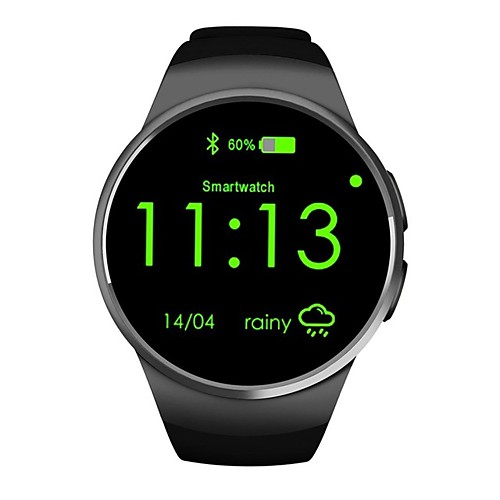KW18 Мужчины Смарт Часы Android iOS Bluetooth Smart Спорт Водонепроницаемый Пульсомер Измерение кровяного давления / Сенсорный экран / Израсходовано калорий / Длительное время ожидания / Секундомер