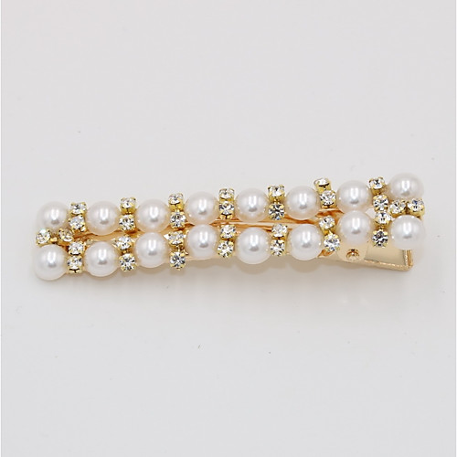 Women's Party Active Cute Imitation Pearl Rhinestone Alloy Solid Colored
