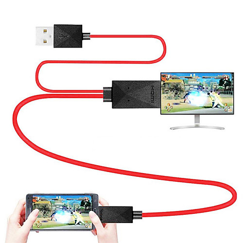 MHL Cable Micro USB 2.0 to HDMI 1.4 Adapter Cable Male - Male 1.8m(6Ft)
