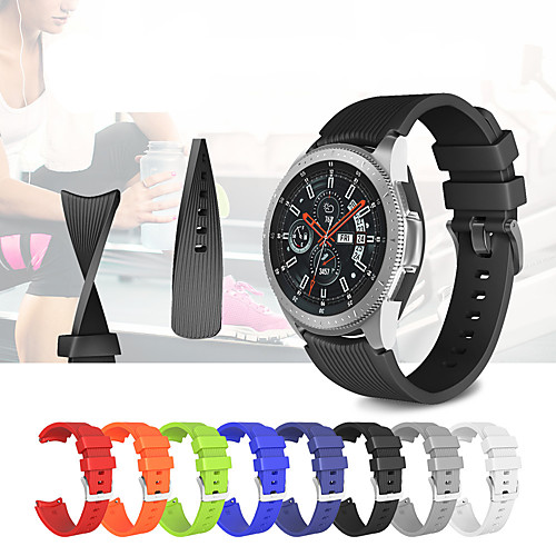 Smart Watch Band for Samsung Galaxy 1 pcs Sport Band Silicone Replacement Wrist Strap for Gear S3 Frontier Gear S3 Classic 22mm