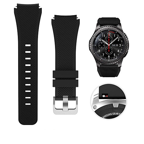 Smart Watch Band for Samsung Galaxy 1 pcs Sport Band Classic Buckle Silicone Replacement Wrist Strap for Gear S3 Frontier Gear S3 Classic Samsung Galaxy Watch 46mm 22mm