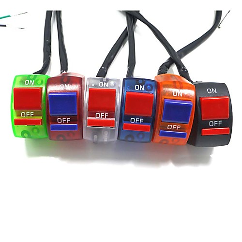 7//8 Motorcycle ATV Bike Handlebar Accident Hazard Light Switch ON Off-Black and Red