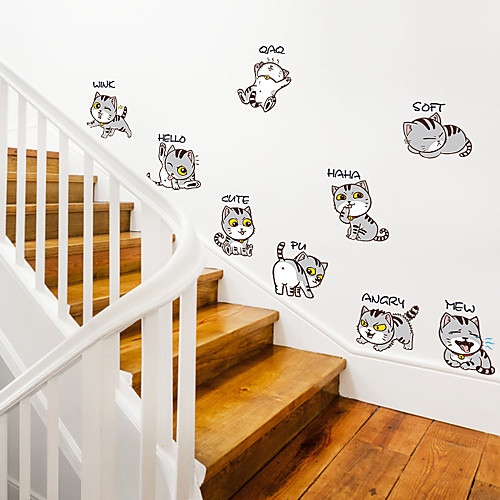 Funny Cat Wall Stickers Words Quotes Wall Stickers Characters Study Room Office Dining Room Kitchen
