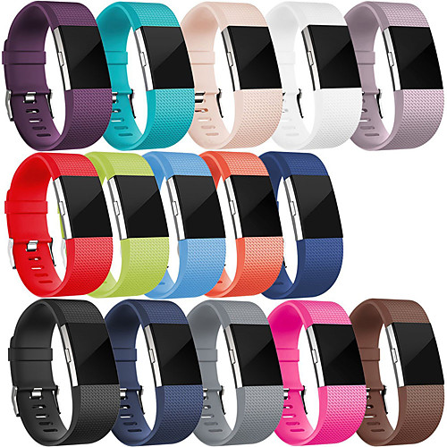 Sport Silicone Wristband Wrist Strap Watch Band Bracelet for Fitbit Charge 2 Smart Watch