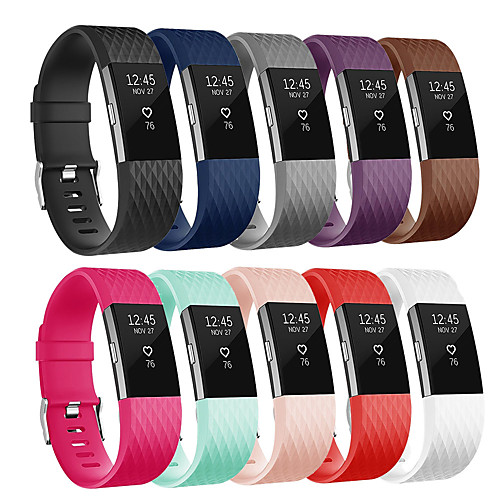 Replacement Silicone Bracelet Wristband Wrist Strap Watch Band for Fitbit Charge 2 Smart Watch Accessories