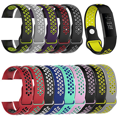 Sport Silicone Watch Band Wrist Strap Wristband Bracelet for Fitbit Charge 3 Smart Watch