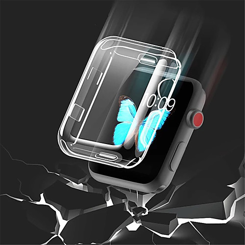 Transparent TPU for Apple Watch Series 3 2 1 38MM 42MM 360 Full Clear Screen Protector Case for iWatch 4 44MM 40MM