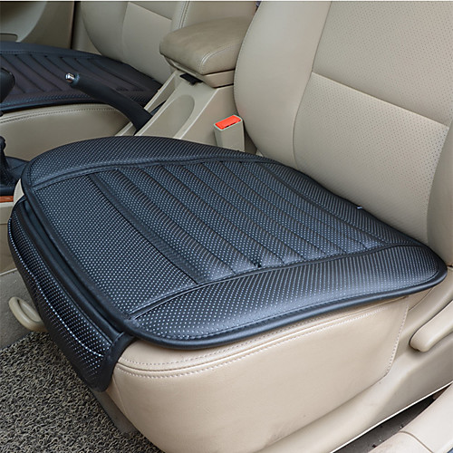 Breathable PU Leather Bamboo Charcoal Car Interior Seat Cover Cushion Pad Auto Chair Cushion Universal Car-styling Supports for Auto Supplies Office Chair