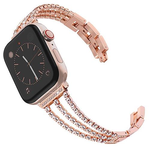 New Women Diamond Watch Band For Apple Watch 40mm/44mm/38mm/42mm iWatch Series 4 3 2 1 Stainless Steel Strap Sport Bracelet