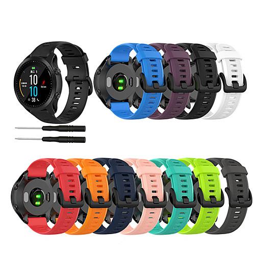 Watch Band for Approach S60 / Fenix 5 / Fenix 5 Plus Garmin Sport Band / Classic Buckle Silicone Wrist Strap
