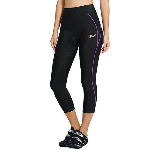 21Grams Women's Cycling 3/4 Tights Spandex Bike Tights Pants Bottoms Breathable Quick Dry Anatomic Design Sports Solid Color Black Mountain Bike MTB Road Bike Cycling Clothing Apparel Form Fit Bike