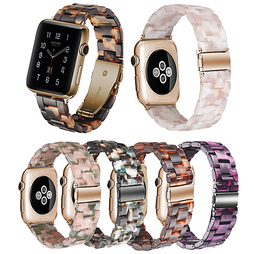 Resin Strap For Apple Watch Series 6 SE 5 4 3 2 1 Iwatch Band 42mm/38mm/44mm/40mm Accessories Bracelet Belt
