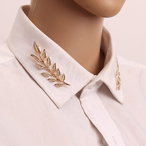 Women's Brooches Classic Leaf Vintage Elegant Brooch Jewelry Gold Silver For Daily / 2pcs