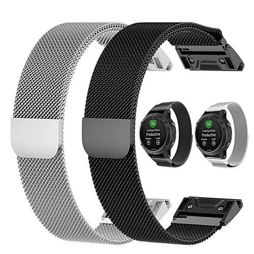 Quick Release Milanese Loop Watch Band Wrist Strap For Garmin Fenix 6 Pro / Fenix 5 Plus / Approach S60 / Forerunner 935 / Quatix 5 Magnet Bracelet Wristband