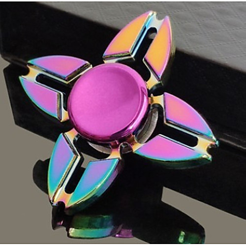 Fidget Spinner Hand Spinner Two Spinner for Killing Time Stress and Anxiety Relief Focus Toy Office Desk Toys Relieves ADD, ADHD, Anxiety, Autism Kid's Adults' Boys' Girls' Metalic 1 pcs