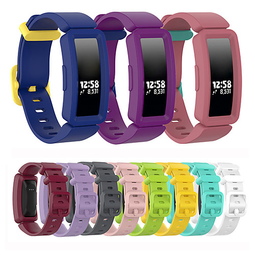 Silicone Watch Band Wrist Strap For Fitbit Inspire HR / Ace 2 Replaceable Bracelet Wristband