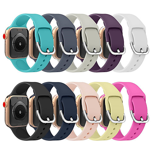 Soft Silicone Replacement Sport Band For Apple Watch Series 5/4/3/2/1 Wrist Bracelet Strap For iWatch Band 44mm/40mm/38mm/42mm