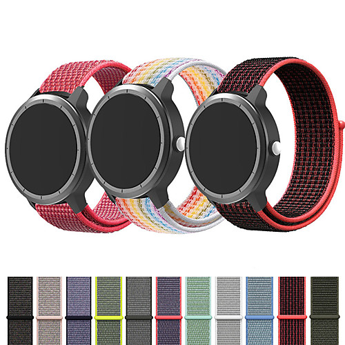 Nylon Watch Band Wrist Strap For Garmin Vivoactive 4 / Venu / Vivoactive 3 / Forerunner 645 / 245M / 245 / Vivomove HR Replaceable Bracelet Wristband