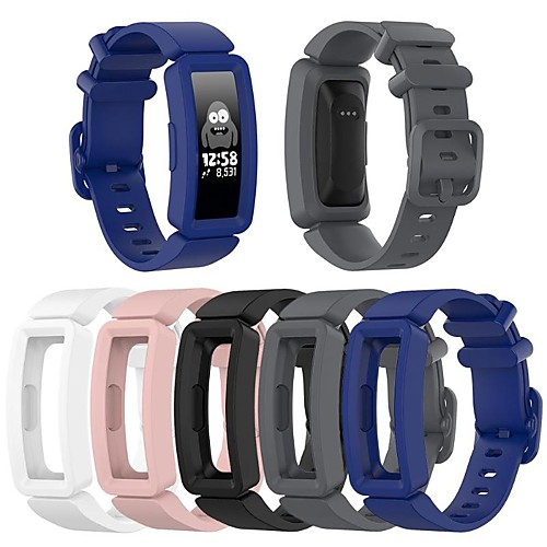 Watch Band for Fitbit Ace 2 / Fitbit Inspire HR / Fitbit Inspire Fitbit Sport Band Silicone Wrist Strap