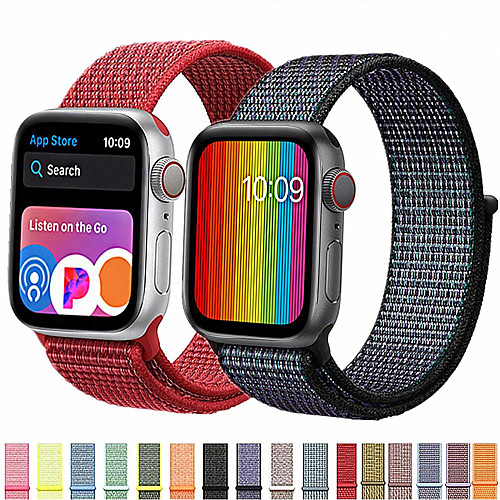 Band For Apple Watch Series 5/4 /3/2/1 38mm 40mm 42mm 44mm Nylon Soft Breathable Replacement Strap Sport Loop for iwatch series