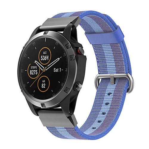 Woven Nylon Watch Band For Garmin Fenix 6 Pro / Fenix 5 Plus / Approach S60 / Forerunner 935 / Quatix5 Sapphire Quick Release Easy fit Bracelet Wrist Strap Wristband