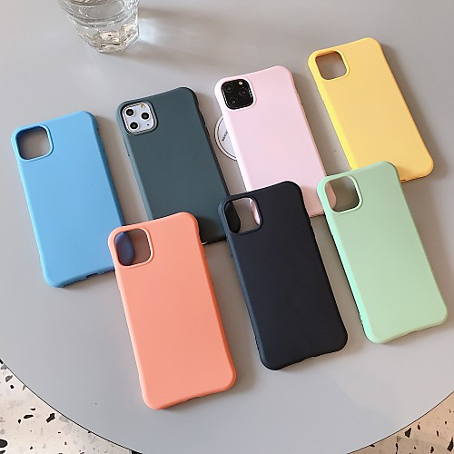Case For Apple iPhone 11 / iPhone 11 Pro / iPhone 11 Pro Max Shockproof / Ultra-thin Back Cover Solid Colored PC