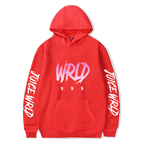 Inspired by Cosplay Juice Wrld Cosplay Costume Hoodie Pure Cotton Print Printing Hoodie For Men's / Women's