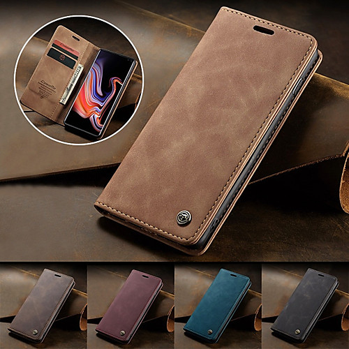 CaseMe Magnetic Flip Wallet Phone Case Retro Stand for Samsung Galaxy S20 S20 Ultra S20 Plus S10 S10 Plus S10E S10 5G S9 S9 Plus S8 S8 Plus S7 S7 Edge A10 A20 A30 A40 A50 A70 A30S A50S Note 10 Plus