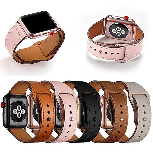 Genuine Leather Band Loop Strap For Apple Watch 6 SE 5 4 3 2 1 Men Leather Watch Band