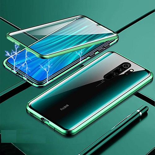 Magnetic Case For Xiaomi Redmi Note 9S / Note 9 Pro/Mi Note 10 Shockproof / Water Resistant / Transparent Tempered Glass / Metal Case For Redmi 8A / Note 8 Pro /K20 Pro/ Mi 9 SE /Mi 9T Pro /Mi CC9 Pro