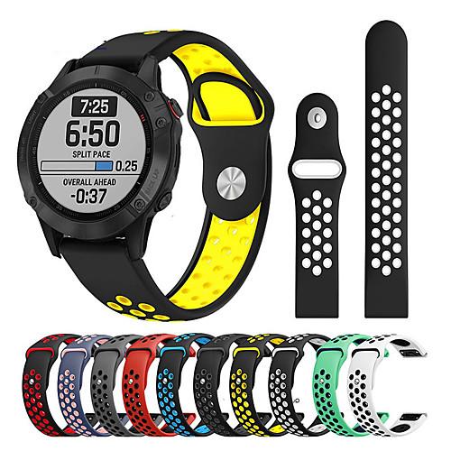 Watch Band for Approach S60 / Fenix 5 / Fenix 5 Plus Garmin Sport Band / Classic Buckle / Modern Buckle Silicone Wrist Strap