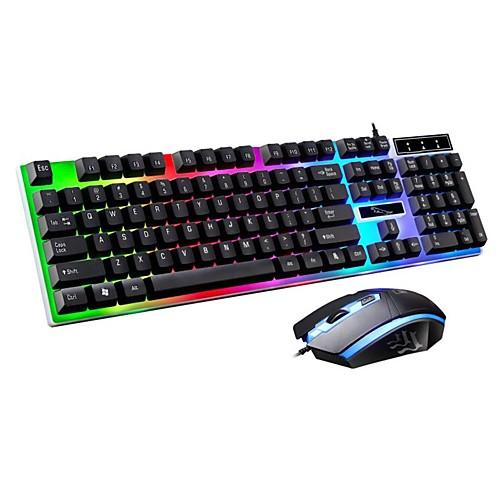 LITBest G21 USB Проводной Мышь Клавиатура Комбо Градиент цвета Механическая клавиатура / Игровые клавиатуры Светящийся Gaming Mouse 1600 dpi
