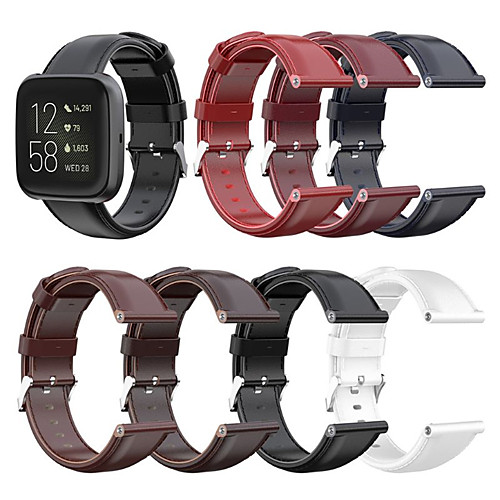 Leather Watch Band Wrist Strap For Fitbit Versa 2 / Versa Lite / Blaze Replaceable Bracelet Wristband