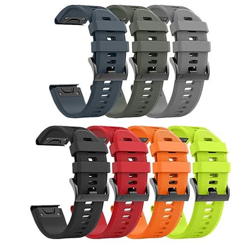 Smartwatch Band for Garmin Fenix 6X 6 6 Pro 5 5 plus 5x 3 3HR Forerunner935 945 S60 D2 Sport Band Soft Comfortable Silicone QuickFit Wrist Strap