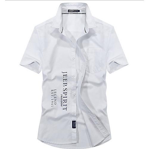 Men's Letter Shirt Basic Daily White / Blue / Blushing Pink / Gray