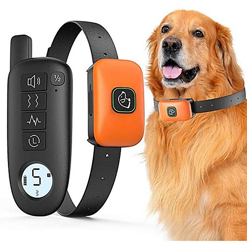 Pet Dog Shock Collar With Remote 1000ft Range Electric Collars for Pet Waterproof Dog Training Collar for Small Medium Large Dogs