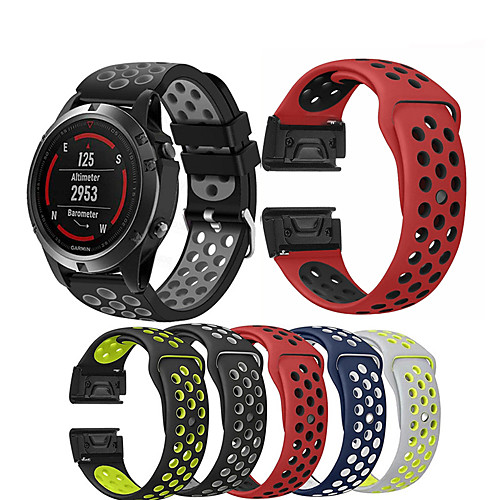 Watch Band Wrist Strap for Garmin Fenix 5 / Approach S60 / Forerunner 935 / 945 / Quatix 5 / Quatix 5 Sapphire / Fenix 6 / Fenix 5 Plus Watch Quick Release Silicone Easyfit Bracelet Wristband