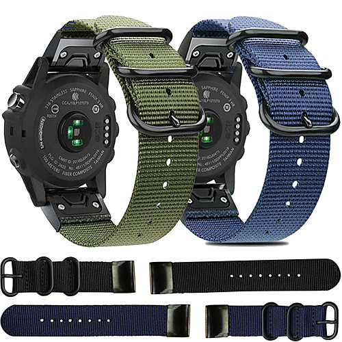 Quick Release Nylon Watch Band for Garmin Fenix 6X Pro / Fenix 6 Pro / Fenix 5 Plus / Fenix 5X Plus / Fenix 3 HR / Forerunner 935 / 945 / D2 / Approach S60 Replaceable Bracelet Wrist Strap Wristband