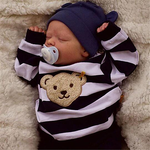 17.5 inch Reborn Doll Baby & Toddler Toy Baby Boy Reborn Baby Doll Saskia Newborn lifelike Hand Made Simulation Floppy Head Cloth Silicone Vinyl with Clothes and Accessories for Girls' Birthday and