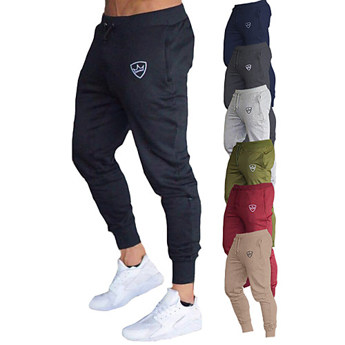 Men's Sweatpants Joggers Jogger Pants Track Pants Athleisure Bottoms Drawstring Cotton Winter Fitness Gym Workout Performance Running Training Breathable Quick Dry Soft Normal Sport Dark Grey Black
