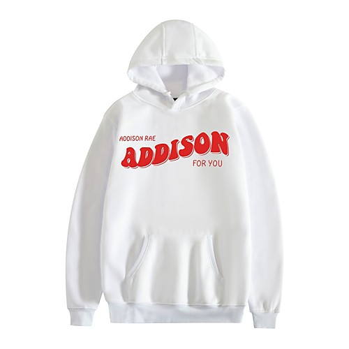 Inspired by Cosplay Addison Rae Hoodie Polyester / Cotton Blend Graphic Prints Printing Hoodie For Men's / Women's