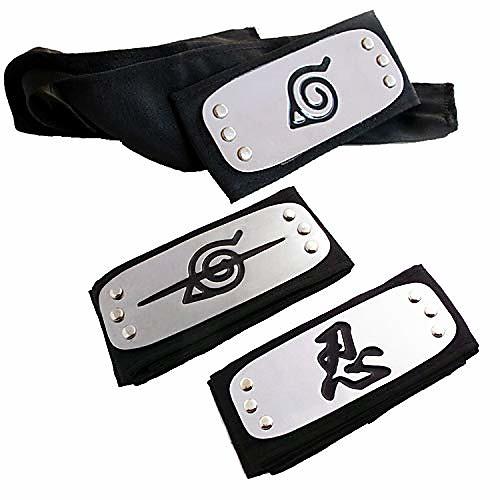 naruto headband, naruto cosplay headband naruto leaf and anti leaf village ninja headband ninja kakashi cosplay accessories