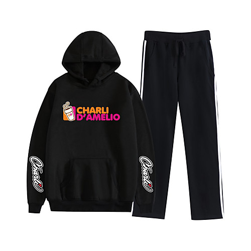 Inspired by Cosplay Charli D'Amelio Pants Outfits Polyester / Cotton Blend Graphic Prints Printing Pants For Men's / Women's / Hoodie / Hoodie