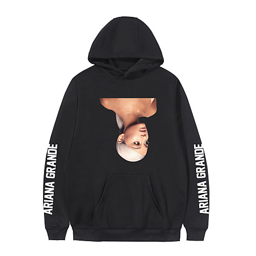 Inspired by Cosplay Ariana Grande Hoodie Polyester / Cotton Blend Graphic Prints Printing Hoodie For Men's / Women's