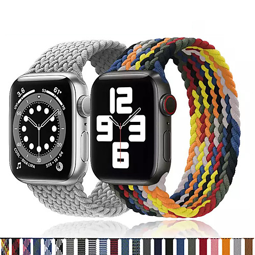 1 pcs Watch Band for Apple iWatch Printed Bracelet Nylon Replacement Wrist Strap for Apple Watch Series 6 / SE / 5/4 44mm Apple Watch Series 6 / SE / 5/4 40mm Apple Watch Series 3/2/1 38mm Apple
