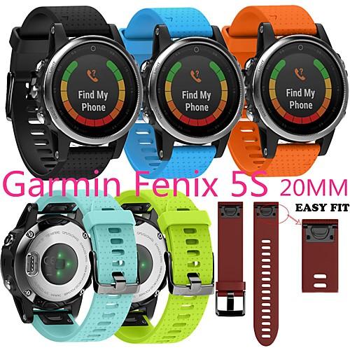 Smart Watch Band for Garmin 1 pcs Sport Band Silicone Replacement Wrist Strap for Approach S60 Fenix 5 Fenix 5 Plus Garmin Quatix 5 Forerunner 935 20mm 22mm 26mm