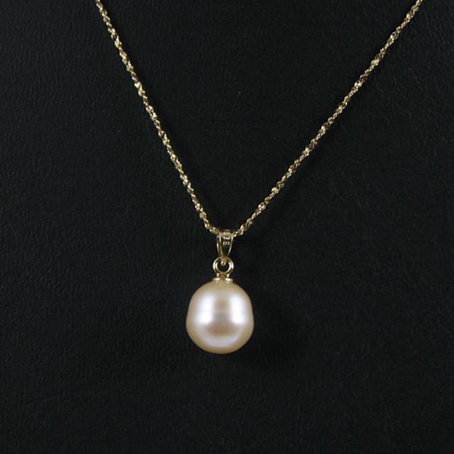 Dámské Růžová Perla Sladkovodní perla Náhrdelníky s přívěšky Koule Jednoduchý Elegantní Zlaté Nerez Pozlacené Brož Šperky Zlatá Pro Párty Výročí Narozeniny Dar Denní Denní nošení