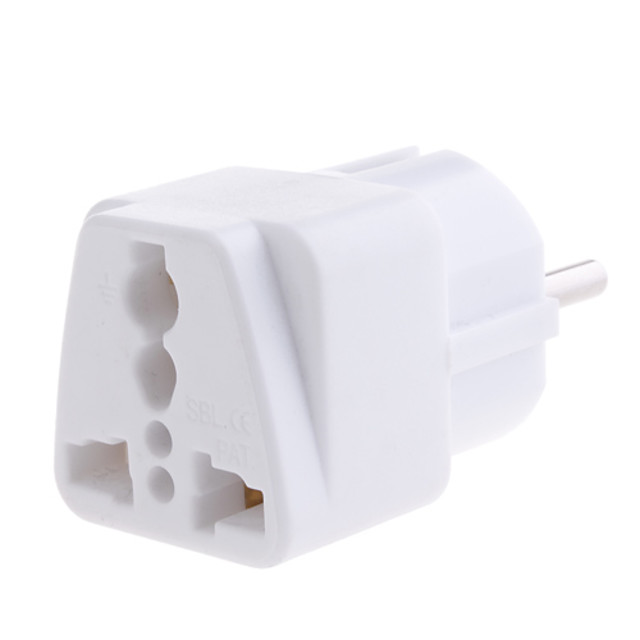 YongWei  WP-9 Universal European AC Plug Travel Adapter white